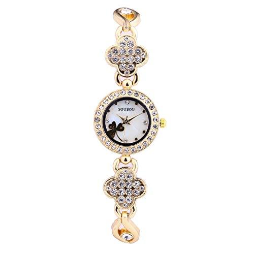 Armbanduhr Damen Uhr Luotuo Mode Armband Analoge Quarz Damenuhr Frauen Ø23mm Kristall Zifferblatt...