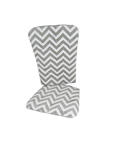 Baby Doll Bedding Minky Chevron Rocking Chair Pad, Grey