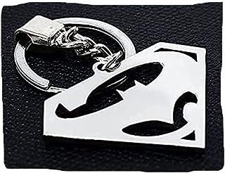 ميدالية مفاتيح بات مان و سوبرمان من الفولاذ المقاوم للصدأ - ميدالية مارفيل
