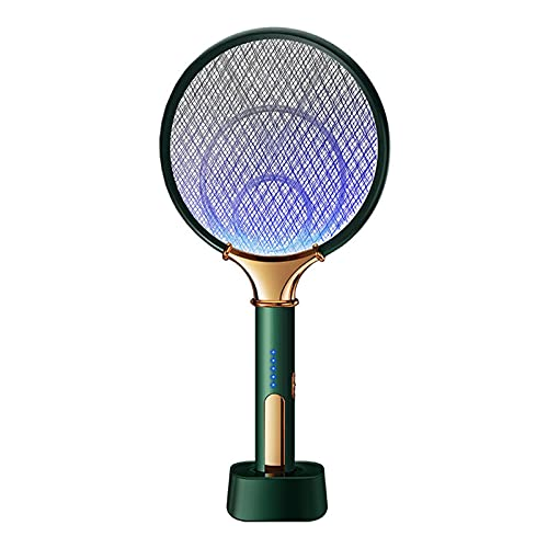 Matador De Mosquitos EléCtrico 2 En 1 Led Recargable Anti Fly Bug Zapper Killer Trap Raqueta De Insectos Control De Plagas Green