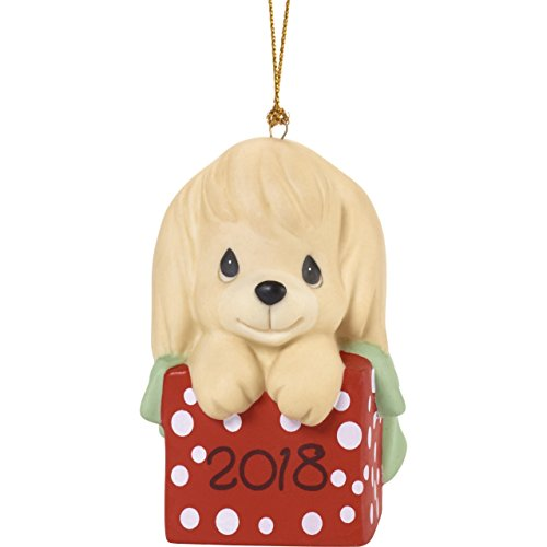 Precious MomentsHave A Paw-FECT Christmas Dated 2018 Dog Ornament, Multicolor