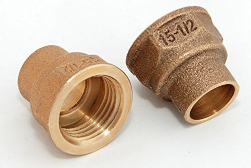Übergangsmuffen i/i 15mm - 1/2\' / 4270g, Rotguss (VE 2 Stk) Rotgussfitting red brass gunmetal, Klimaanlage Klimatechnik Wasser Heizung Gas Solar heating refrigerant