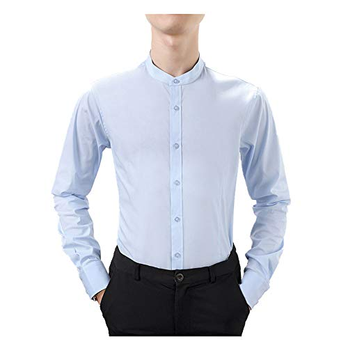 N\P Camiseta de manga larga para hombre de primavera y verano, informal, de color sólido, para hombre, de manga larga