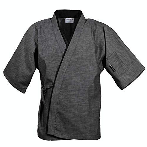 Bycloth Herren Kochjacke Mantel,Japanische Küche Arbeitskleidung für Restaurants Küchen Konditoreien Cafés,M