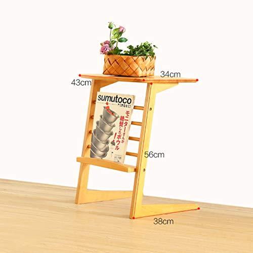Table basse latérale Coin quelques meubles Canapé-lit mobile simple en bois massif Table d'appoint (Couleur : B)