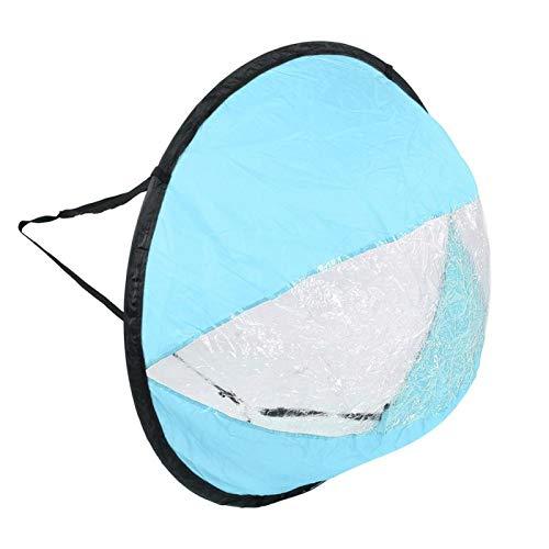 FOLOSAFENAR con Ventana Transparente Fácil de Montar Kayak Plegable Vela de Viento Poliéster Tafetán Resistente, para Equipos(Blue, Kayak Sailing Sail)