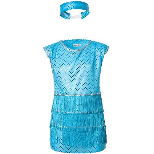 dressforfun 900308- Disfraz de Niña Broadway Girl, Elegante Atuendo Estilo Años 20 (140 | No. 301566)