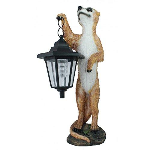 colourliving® Dekofigur Erdmännchen Henry mit LED Solarlampe Gartendeko Dekoration Garten