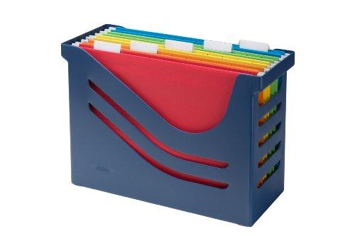Jalema 2658026992 Re- Solution Office Box - Caja archivadora de oficina, incluidas 5 carpetas colgantes A4, ordenadas por colores, color azul