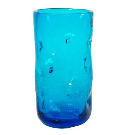 418LC Crackled Large Dimple Glass - Blenko Glass Company