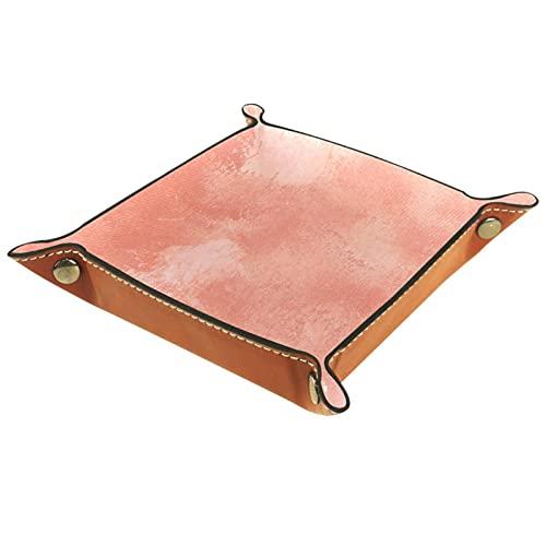 rogueDIV Bandeja plegable de piel sintética para dados, soporte de dados para D&D, RPG, juegos de mesa o escritorio para guardar llaves de teléfono, color rosa viejo 15,7 x 15,7 cm