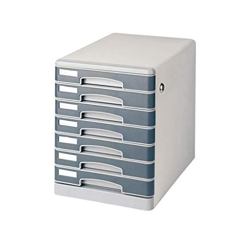 Stabiele lade Type zeven lagen Lock Data File Noodzakelijke dagelijkse documentatie Elektrische geleidbaarheid IJzeren plaat (34.8X27.5X35.8CM) Opbergdoos