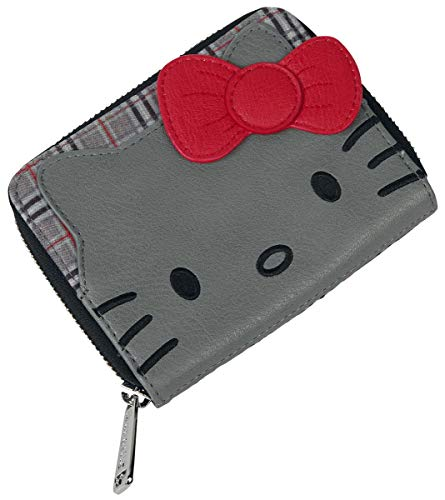 Hello Kitty Loungefly Femme Portefeuille Gris, Imitation Cuir,