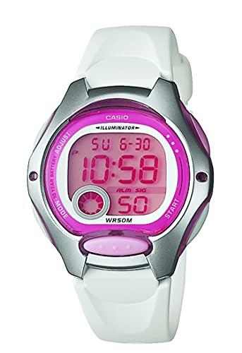Casio Women s LW200-7AV Digital Watch with White Resin Strap