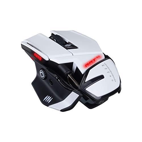 Madcatz RAT 4+ Blanc - Souris gamer filaire - 9 boutons - LED - 7200 DPI - Pixart PMW3330