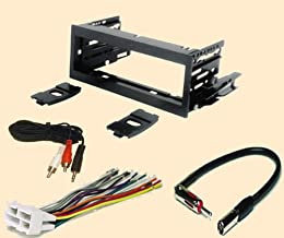 Carxtc Fits Cadillac Escalade 1999 2000 2001 2002, Stereo Wiring Harness, Dash Install Kit Faceplate, with FM Antenna Adaptor (Combo Complete Aftermarket Stereo Wire and Installation Kit)