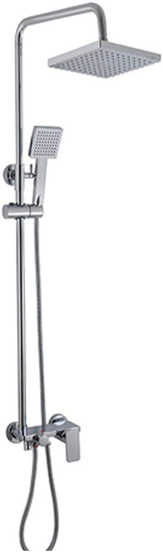 Kupferne Dusche des Klempnerarbeitbadezimmers, heie und kalte Badezimmerdusche, hohes Standardduschenset, groer Sprinkler, Handduschenset, Frauensprühpistole, Dusche,