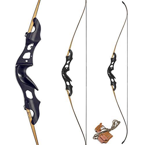 KAINOKAI 60' Takedown Recurve Bow,Archery Bow Hunting Bow Target Shooting Bow 20-55lbs (Storm-Right Hand, 40 lb)