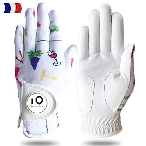 FINGER TEN Gants De Golf Femme Main Gauche Droite Motif...