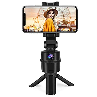 Auto Tracking Selfie Stick, No APP Required 270° Rotation Face Human Body Track Camera Mount Holder Phone Tripod for Vlog Shooting Live Streaming for iPhone Android from Arioky