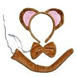 Kirei Sui Kids Gold Monkey Headband Bowtie Tail 3pcs...