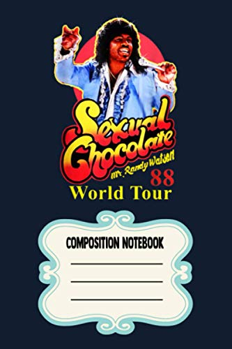 Sexual Chocolate Watson LG Notebook: 120 Wide Lined Pages - 6' x 9' - College Ruled Journal Book, Planner, Diary for Women, Men, Teens, and Children