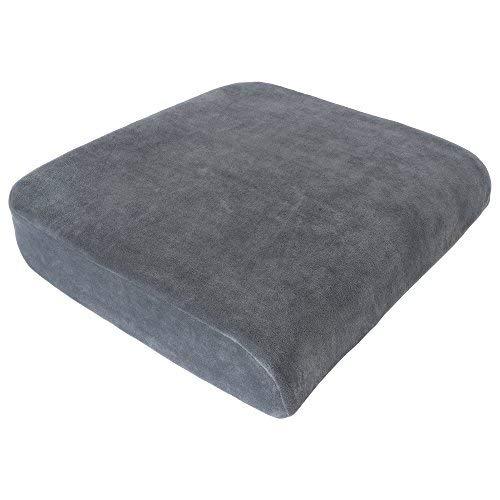 Ergonomisches XL Sitzkissen - Schmerzlinderung für Rücken, Bandscheiben und Ischias Nerv, Sitzerhöhung, Stuhlkissen, Druckentlastung für Gasäß Größe 45x48cm extra Hoch 9 cm, Visco System Farbe: (grau)
