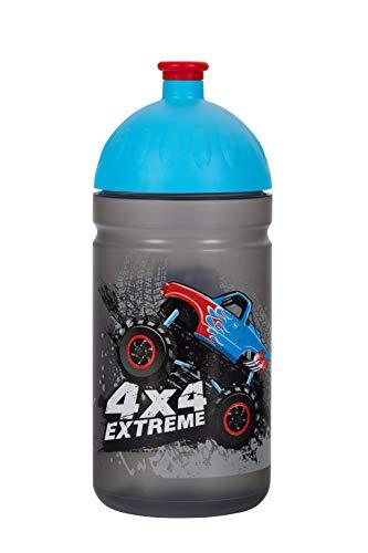 Botella de Agua Ecológica para niños 0,5L *MADE IN EU* sin BPA sin Ftalatos Irrompible, Duradera y Chula!! (Monster Truck)