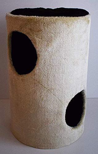 Lemio Kratztonne -Unique- mit Sisalfläche Spieltonne 55 cm hoch grau oder beige (beige)