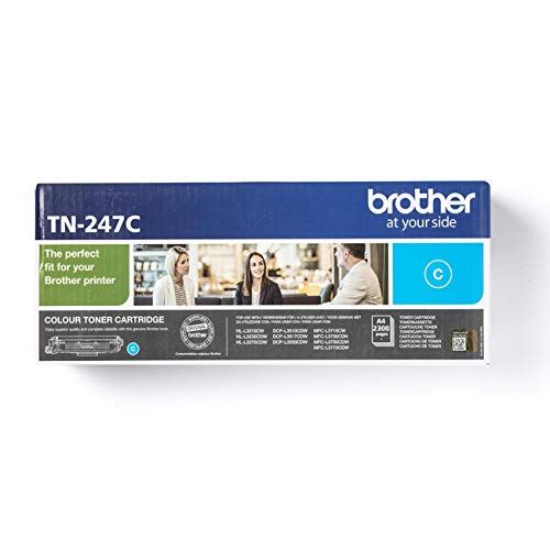 Original Brother Jumbo-Tonerkassette TN-247C Cyan (für Brother DCP-L3510CDW, DCP-L3550CDW, HL-L3210CW, HL-L3230CDW, HL-L3270CDW, MFC-L3710CW, MFC-L3730CDN, MFC-L3750CDW und MFC-L3770CDW)