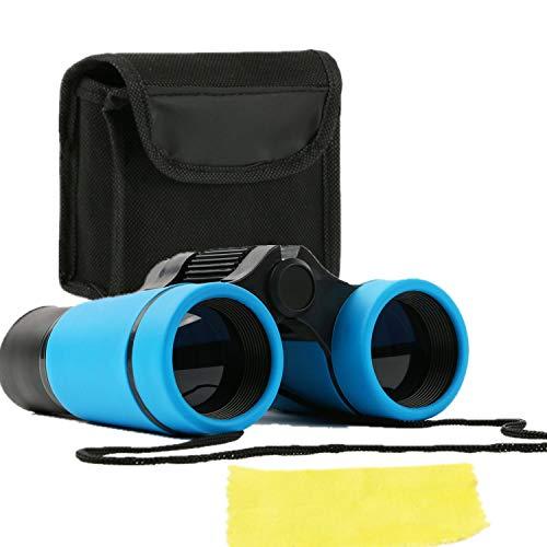 Scotamalone Prismáticos para niños 4 x 30 + bolsa de transporte, instrucciones y paño para lentes