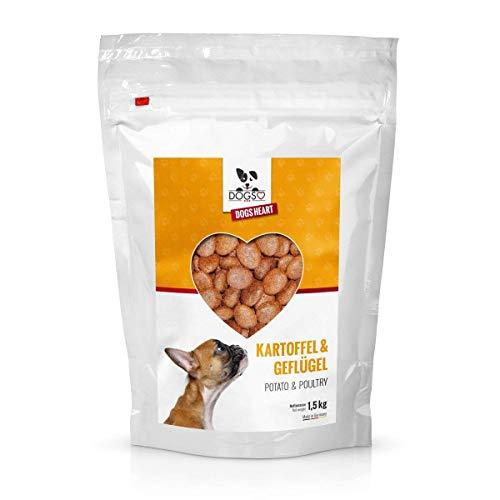 DOGS-HEART Geflügel & Kartoffel (1,5kg) Getreidefreies Hundefutter mit hohem Fleischanteil, Glutenfrei