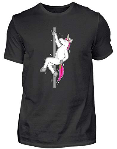 Unicornio Sexy con diseño de Princesa en la Barra, diseño Sencillo y Gracioso, Camiseta para Hombre Negro XXL