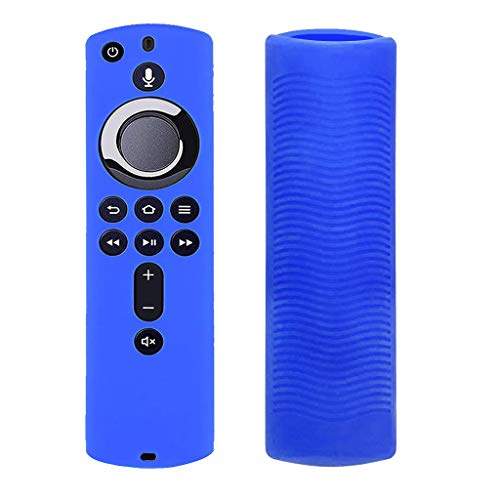 siwetg - Custodia Protettiva per Amazon Fire TV Stick 4K con Telecomando in Silicone Morbido e Antiurto Blu