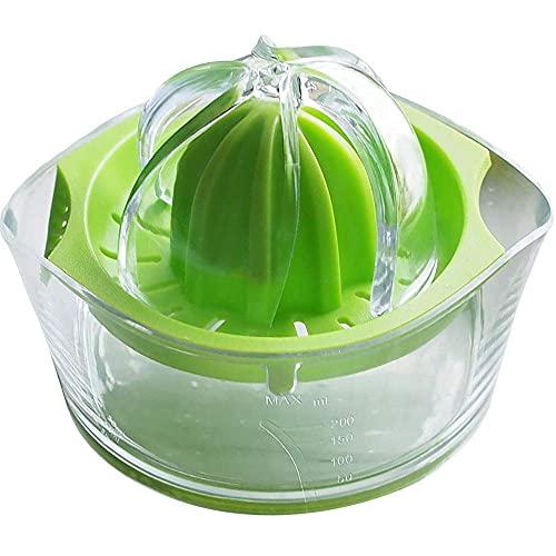 Taza de jugo manual multifuncional Exprimidor de separación de jugo de naranja y limón Hogar (Color: Verde, Tamaño: 9.5x11.5x13cm)