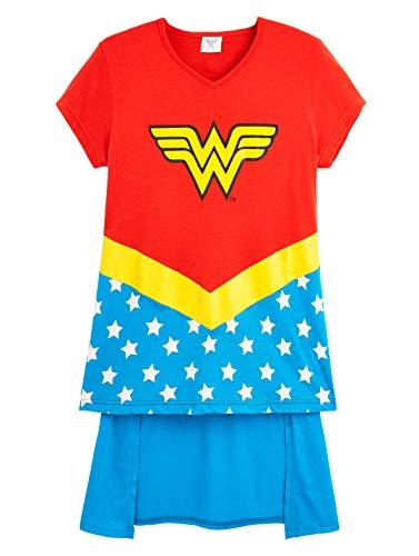 DC Comics Wonder Woman Camisetas Niña, Ropa para Niñas 100% Algodon, Camiseta Niña Manga Corta Mujer Maravilla, Regalos para Niña y Adolescente 5-14 Años (5-6 años)