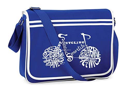 Druckerlebnis24 Schultertasche - Fahrrad Rennrad Mountainbike Sport - Umhängetasche, geeignet für Schule Uni Laptop Arbeit