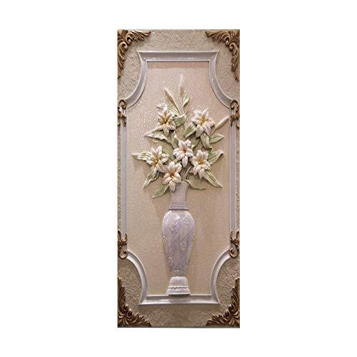 COOLINGSOAP Flor en una Botella 95 × 215 Mural de Puerta Mural 3D Cartel de Puerta Papel Tapiz Dormitorio Interior Impermeable Autoadhesivo Sala de Estar