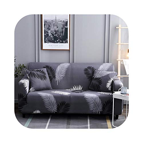 Onln 2021 Elastic Sofa Slipcovers Modern Sofa Cover for Living Room Sectional Corner L-Shape Chair Protector Couch Cover 1/2/3/4 Seater-Color 26-Pillowcase 2pieces