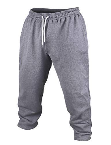 Herren Bodybuilding Jogginghose Aktiv Ausgebeult Hose Fitnessstudio Sport Fitness Trousers Dunkel grau X-Large