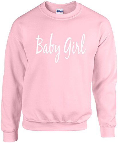 Adult Unisex Funny Crewneck Size L (BABY GIRL) Novelty Sweatshirt