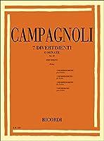 CAMPAGNOLI - Divertimentos o Sonatas Op.18 para Violin (Polo)