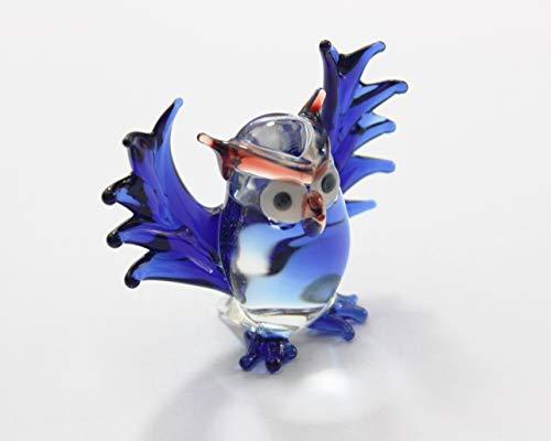 Mini Eule Vogel Glas Miniaturen Figuren Sammlung Kleintier Puppenhaus Dekor handgefertigt DIY #2