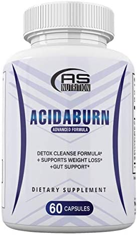 Acidaburn Detox Cleanse Formula Acidaburn Pills for Weight Loss and Gut Support 60 Capsules product image