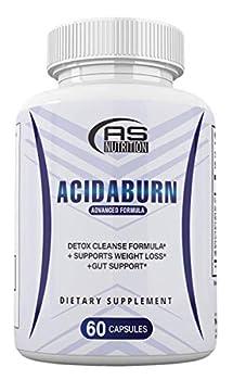 Acidaburn Detox Cleanse Formula Acidaburn Pills for Weight Loss Acidburn Pills and Gut Support Acida Burn 60 Capsules 1 Month Supply