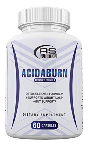 Acidaburn Detox Cleanse Formula, Acidaburn Pills for Weight Loss, Acidburn Pills and Gut Support, Acida Burn 60 Capsules, 1 Month Supply