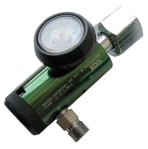 CGA 540 Style Oxygen Regulator - 0 to 8 L/Min (DISS Outlet)
