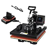 SHZOND 2 in 1 Heat Press Machine 15'x 15' LCD Display Heat Transfer Machine for T Shirts and Hats (15x15 inch 2 in 1)