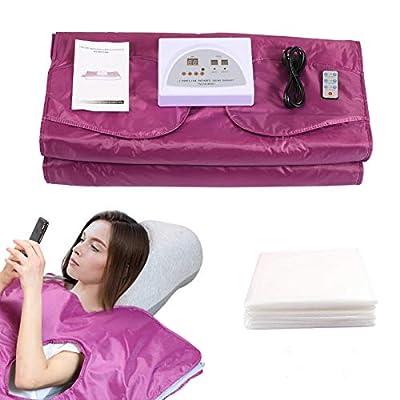 SEAAN Sauna Blanket, Far-Infrared, 2 Zones, Weight Loss and Detox Hand-reachable Design, Digital Thermal Sauna Blanket Body Shaper Fitness Anti Aging Beauty Machine