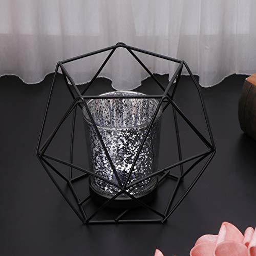 UYT Geometrische Kerzenhalter, Atmosphärendekorationen, Hauptdekorationen, Desktop-Dekorationen, Festliche Dekorationen, 3D-geometrischer Kerzenhalter Aus Nordischem Stil Metallkerzenhalter